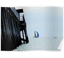 SKIFF BY LARGS JETTY-LARGS BAY Poster