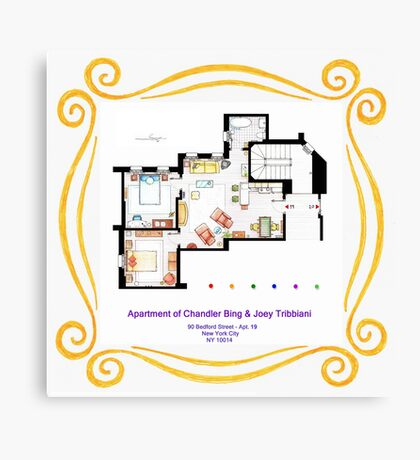 """Apartment of Chandler & Joey from """"FRIENDS"""" Canvas Print"""