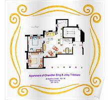 "Apartment of Chandler & Joey from ""FRIENDS"" Poster"