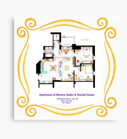 """Apartment of Monica and Rachel from """"FRIENDS"""" Canvas Print"""
