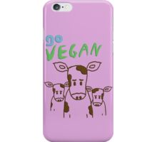 GO VEGAN - CALVES iPhone Case/Skin