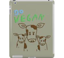 GO VEGAN - CALVES iPad Case/Skin