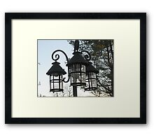 Wrought Iron Street Lamps Framed Print