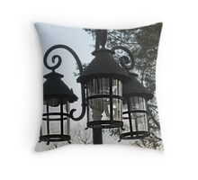 Wrought Iron Street Lamps Throw Pillow