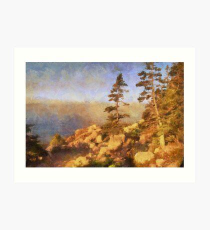 Sunset - Acadia National Park Art Print