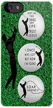 ㋡ GET IN THE SWING OF LIFE GOLF BALL IPHONE CASE ㋡  by ╰⊰✿ℒᵒᶹᵉ Bonita✿⊱╮ Lalonde✿⊱╮