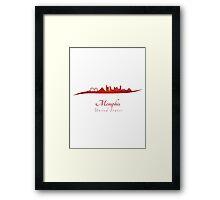 Memphis skyline in red Framed Print