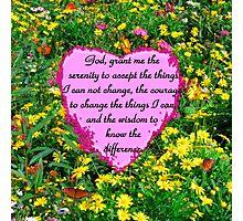 YELLOW WILDFLOWER SERENITY PRAYER Photographic Print