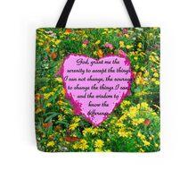 YELLOW WILDFLOWER SERENITY PRAYER Tote Bag