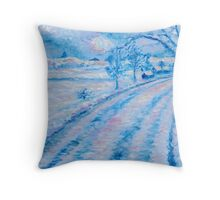 Country NIght in Blue Throw Pillow