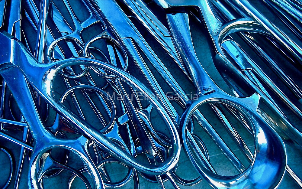 Something Bluish & Sharp by Mary Ellen Garcia