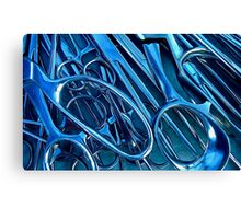 Something Bluish & Sharp Canvas Print