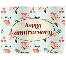 Bouquet Anniversary card and gifts Poster