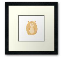 Fluffy Hamster Framed Print