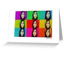 Jennifer Aniston Pop Art poster Greeting Card