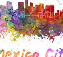 Mexico City skyline in watercolor Sticker