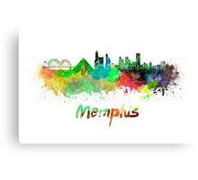 Memphis skyline in watercolor Canvas Print