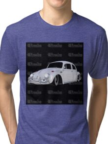 Das VW-Freaks White Beetle (Black BG) Tri-blend T-Shirt