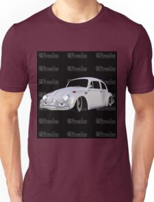 Das VW-Freaks White Beetle (Black BG) Unisex T-Shirt