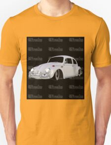 Das VW-Freaks White Beetle (Black BG) T-Shirt