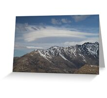 Lenticular Clouds overlooking The Remarkables Greeting Card