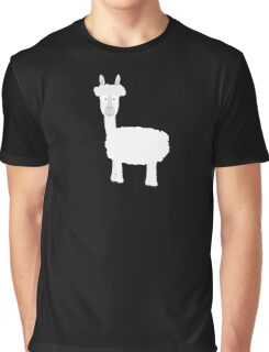 White Alpaca Graphic T-Shirt