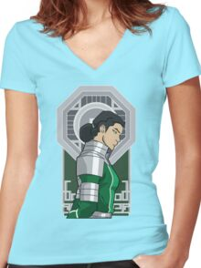 Great Uniter Women's Fitted V-Neck T-Shirt