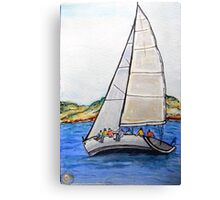 Sailing the Bay Canvas Print