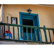 Typical Greek local apartment  Mandraki town Nisyros Island  Aegean Sea Photographic Print