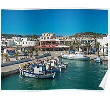 View of the marina Kardamena  Island of Kos Poster