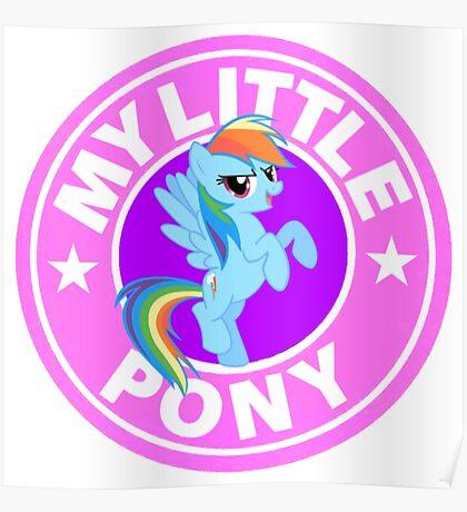 My Little Pony Starbucks Poster