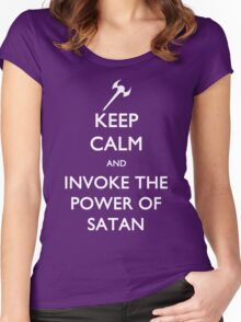 Melvin's Invoking the Power of Satan Again Women's Fitted Scoop T-Shirt
