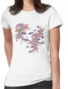 Stream of Faces Womens Fitted T-Shirt
