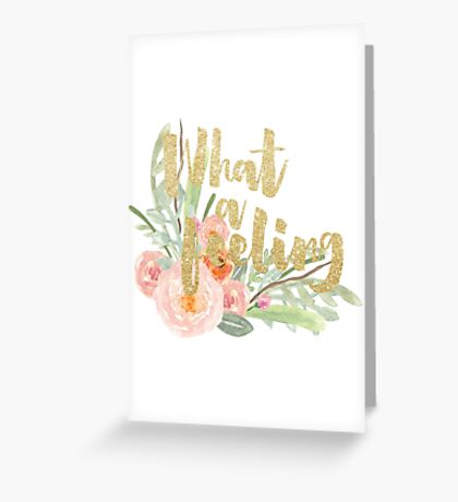 MUSIC : WHAT A FEELING Greeting Card
