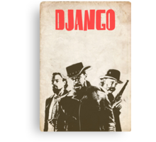 Django Unchained illustration Wild West Style Poster Canvas Print