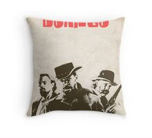Django Unchained illustration Wild West Style Poster Throw Pillow