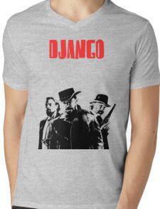 Django Unchained illustration Wild West Style Poster Mens V-Neck T-Shirt