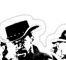 Django Unchained illustration Wild West Style Poster Sticker