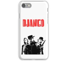 Django Unchained illustration Wild West Style Poster iPhone Case/Skin