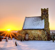 Upleatham Church at Sunrise by Darren Allen