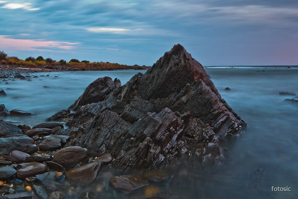 Jagged Rock at Sunrise by fotosic