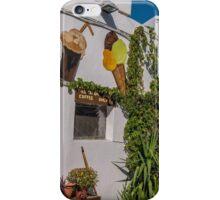Typical Greek coffee shop  Mandraki town Nisyros Island  Aegean Sea iPhone Case/Skin