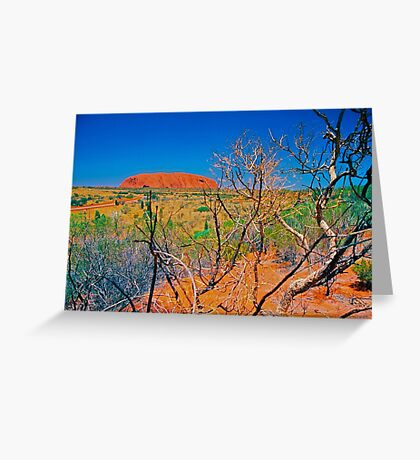 Uluru, big rock in the desert. Greeting Card