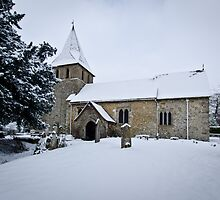 Detling Church in Snow by Sue Martin