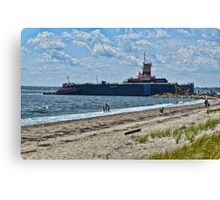 Compass Rose Beach Rhode Island Canvas Print