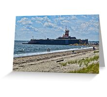 Compass Rose Beach Rhode Island Greeting Card
