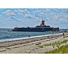 Compass Rose Beach Rhode Island Photographic Print