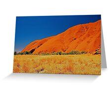 Uluru Slopes Greeting Card