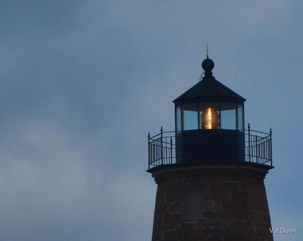 Pt. Judith Light at Sunset by Val Dunn