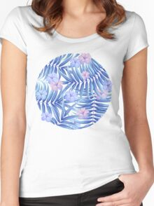 Tropical pattern Women's Fitted Scoop T-Shirt